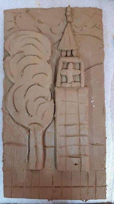 Час по изобразително изкуство със VII клас в Ателието по грънчарство на Първо основно училище 8